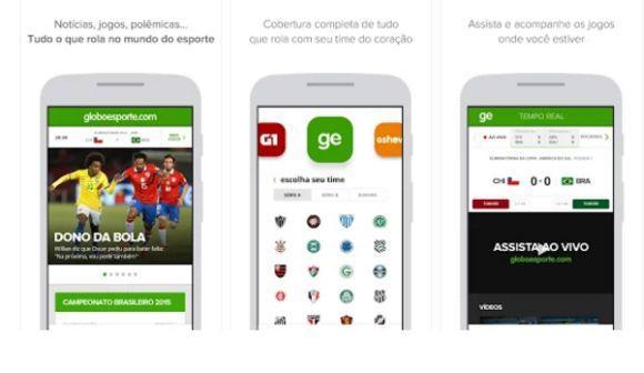 O app Globoesporte.com é gratuito e roda em Android e iOS (Foto: Reprodução Globoesporte.com)