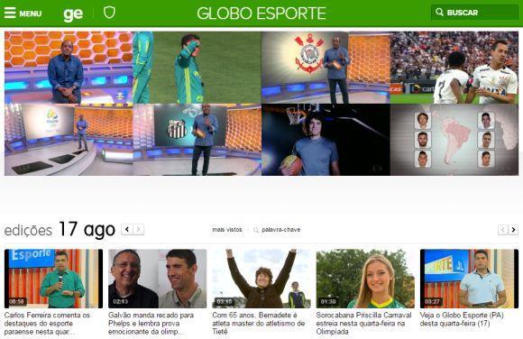 Reveja matérias e edições inteiras do Globo Esporte na página do programa (Foto: Reprodução Globoesporte.com)