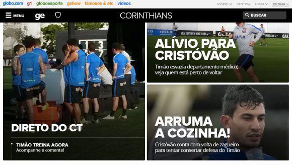 O Globoesporte.com tem páginas exclusivas para cada time brasileiro (Foto: Reprodução Globoesporte.com)