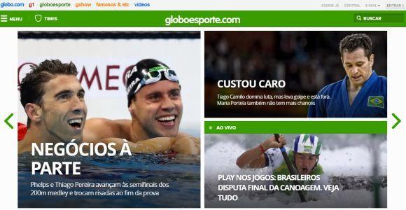 Globoesporte.com: esportes e futebol ao vivo (Foto: Reprodução Globoesporte.com)