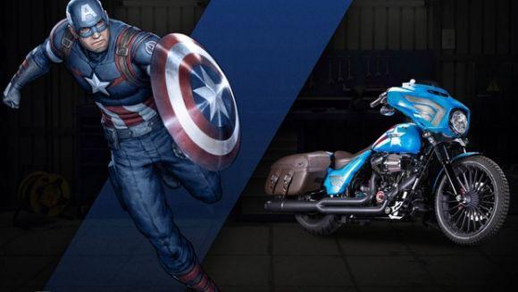 O Capitão América foi uma das inspirações para as motos customizadas (Foto: Divulgação Harley-Davidson)