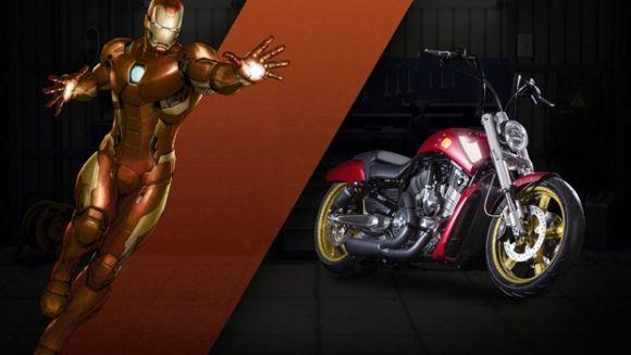 Outro personagem lembrado nos modelos será o Homem de Ferro (Foto: Divulgação Harley-Davidson)