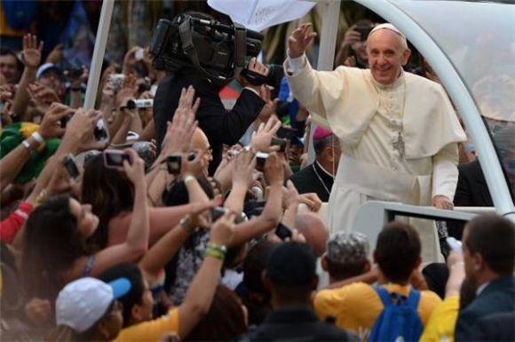 Papa Francisco em sua passagem pelo Rio de Janeiro (Foto Ilustrativa)