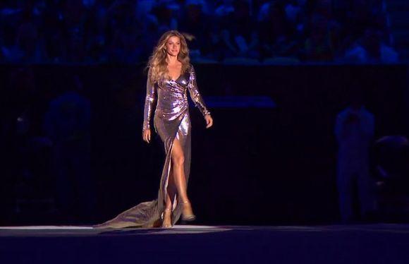 A top model Gisele Bündchen arrasou na abertura dos Jogos Olímpicos (Foto: Reprodução internet)