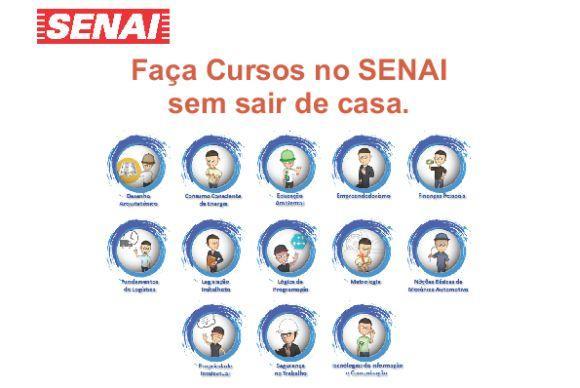 São 13 cursos online grátis abertos pela instituição (Foto: Divulgação Senai)