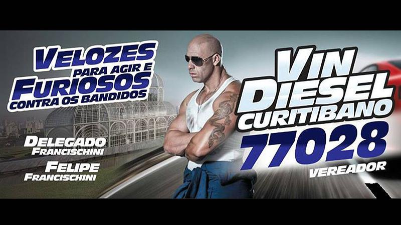 Vin Diesel Curitibano (SD) de Curitiba (Foto: Divulgação)
