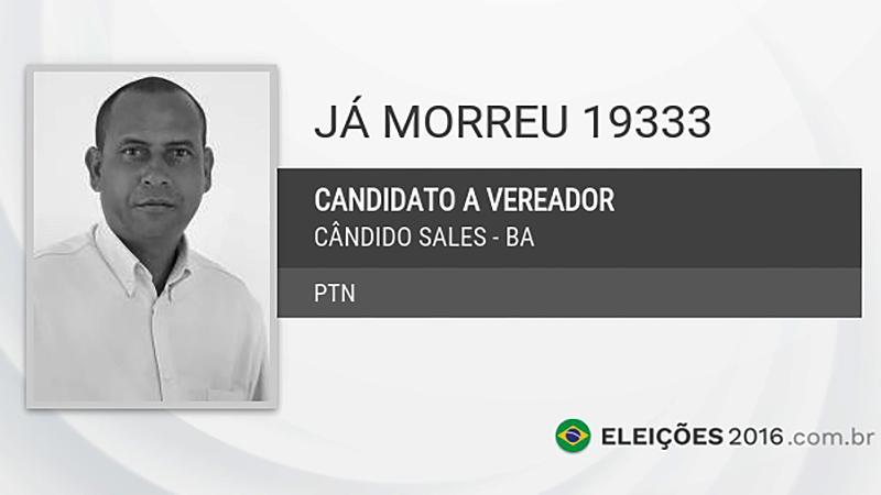Candidato a vereador Já Morreu (PTN) (Foto: Divulgação)