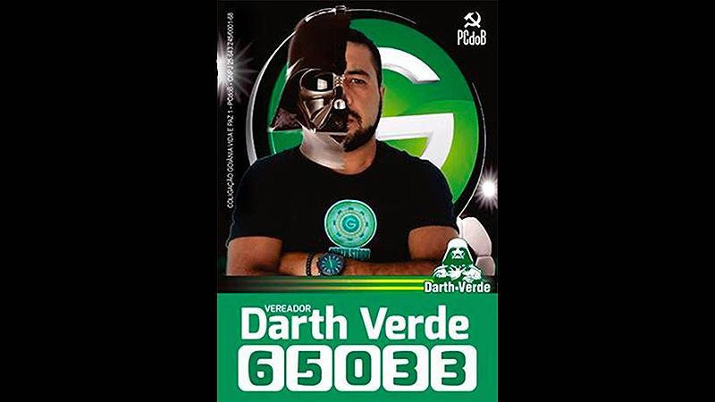 Darth Verde (PC do B), Goiânia.(Foto: Divulgação)