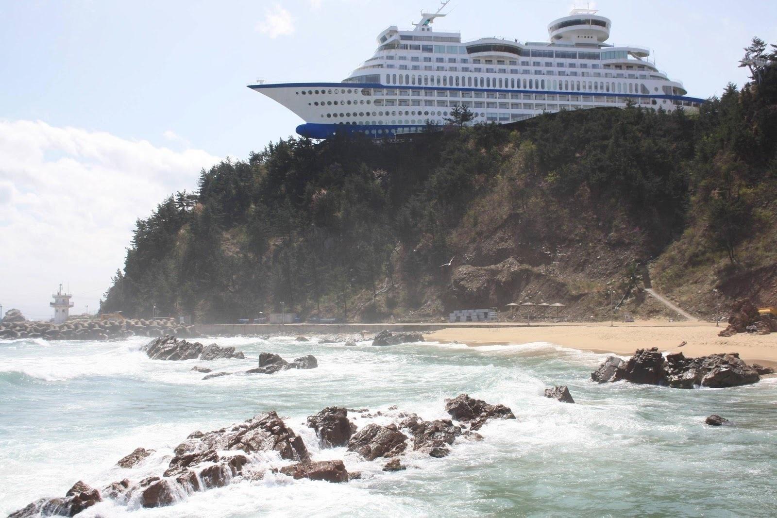 navio flutuante chinês (Foto: Divulgação)