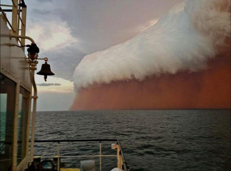 Tempestade de área na Austrália(Foto: Divulgação)