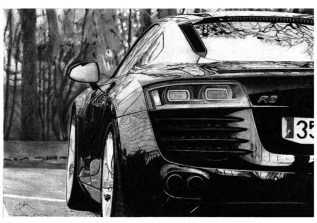 David Kao fez um Audi com perfeição e detalhes de sobra nas fotos (Foto: David Kao)