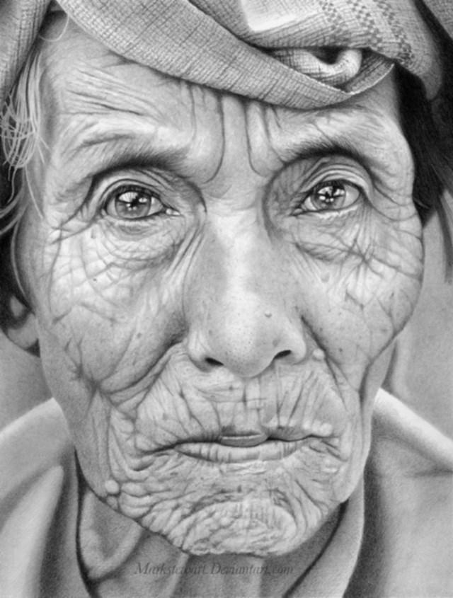 Imagem impressionante de uma ilustração feita com lápis grafite (Foto: Mark Stewart)