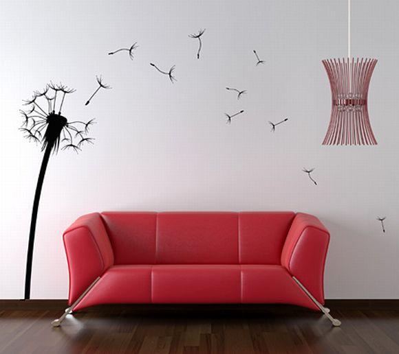 Repare como o visual mudou só com o acréscimo de adesivos de parede (Foto Ilustrativa)