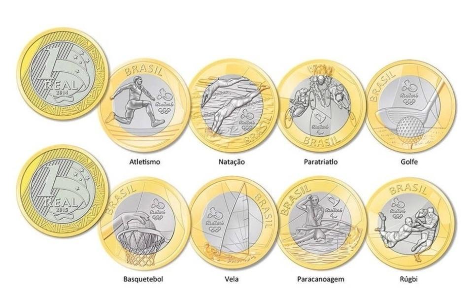 Modelos de moedas das Olimpíadas Rio 2016 (Foto: Divulgação)