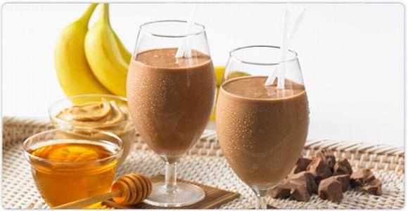 Shake de banana com cacau (Foto Ilustrativa)