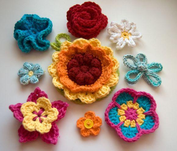 Há vários tipos de flores de crochê, com diferentes utilidades (Foto Ilustrativa)