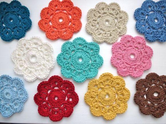como fazer flores de croch passo a passo foto ilustrativa