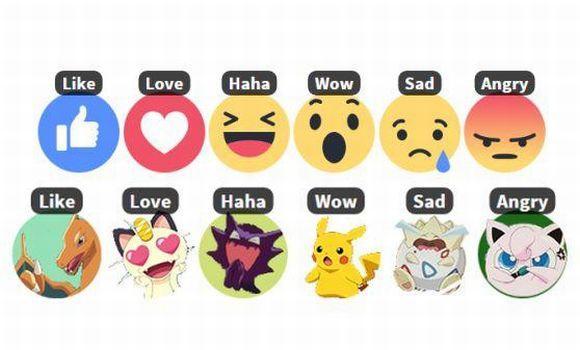 Como trocar reações do Facebook para Pokémons (Foto: Reprodução Reaction Packs for Facebook)