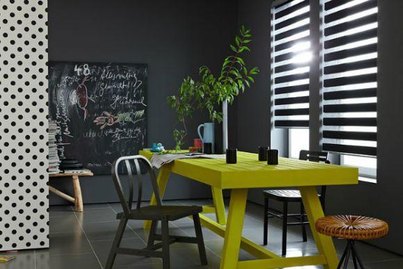 Combinação cinza e amarelo na decoração (Foto Ilustrativa)