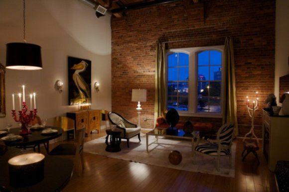 Decoração de apartamentos com tijolinhos
