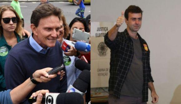 No Rio, Crivella e Freixo vão disputar o segundo turno (Foto: Reprodução)