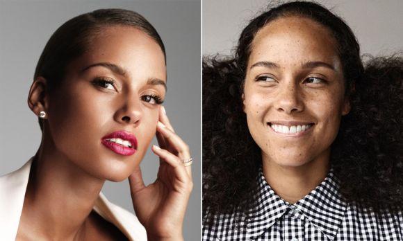 As sardas da Alicia Keys aparecem quando ela está sem maquiagem (Foto Ilustrativa)