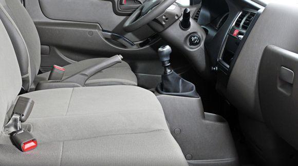 A cabine do HR tem capacidade para três pessoas (Foto: Divulgação Hyundai)