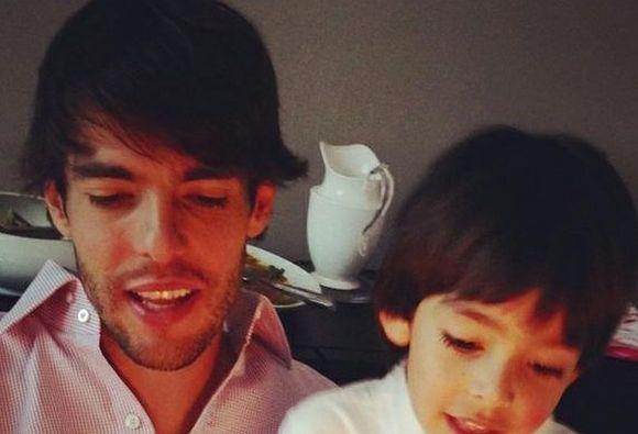 Kaká e Luca (Foto: Reprodução internet)