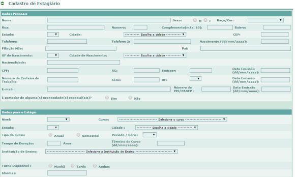 O formulário de inscrição está disponível no site da Petrobras (Foto: Reprodução Petrobras)