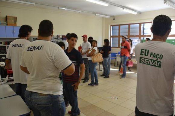 Os cursos online do Senai também têm algumas atividades presenciais (Foto: Divulgação Senai MS)