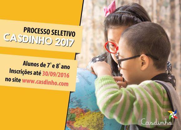 Vestibulinho Casdinho 2017 (Foto: Divulgação Casdinho)