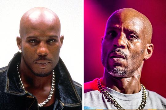 DMX antes e depois de usar drogas (Foto: Divulgação)