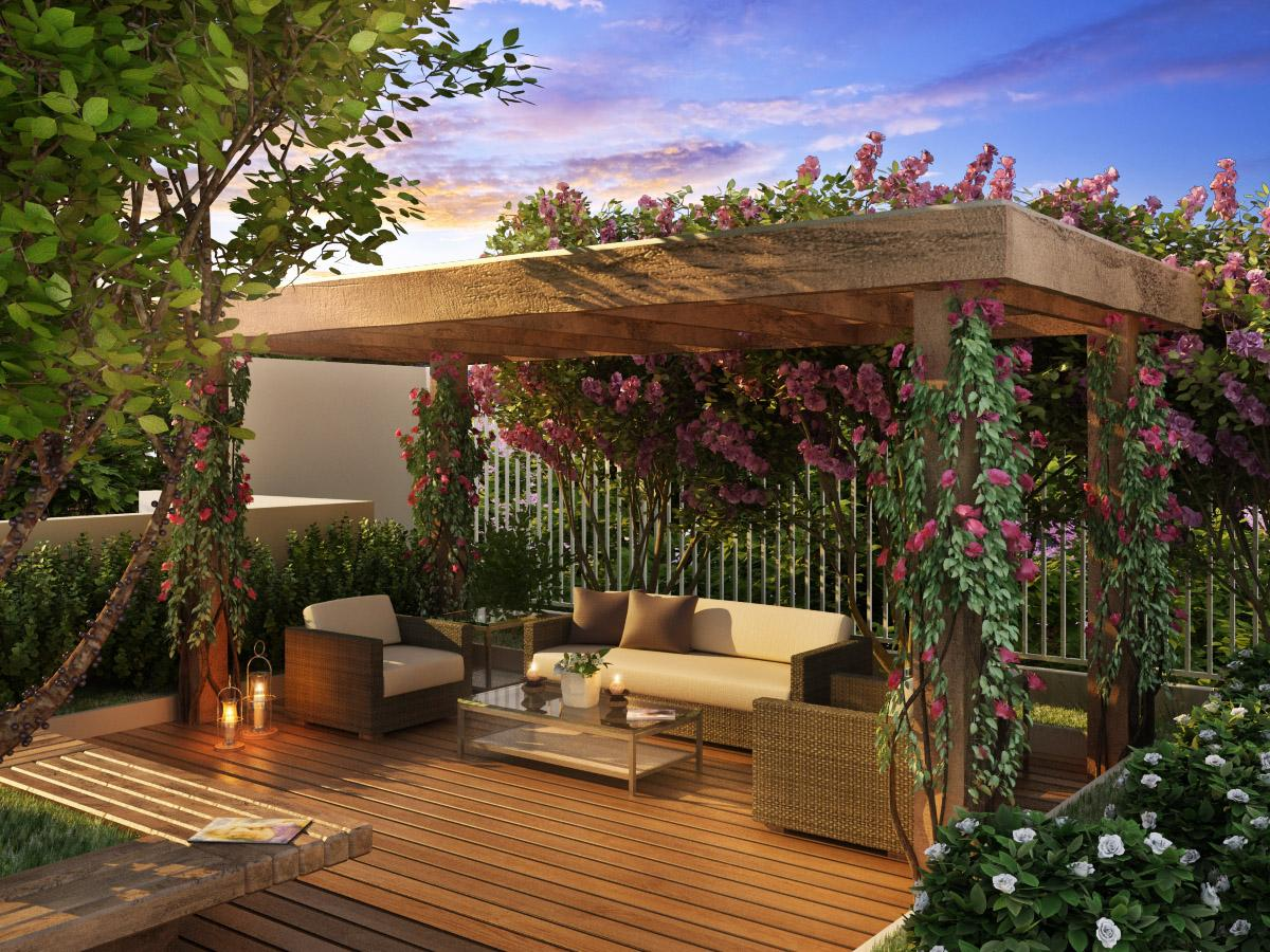 ideias de jardins lindos:decoração dos pergolados fazem total diferença (Foto