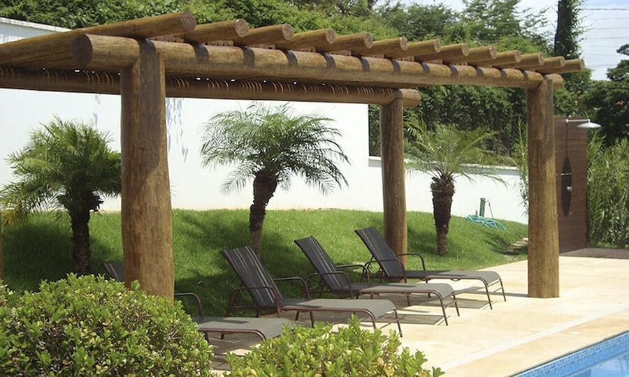gazebo jardim madeira:pergolado com uma boa estrutura fica legal (Foto: Divulgação)