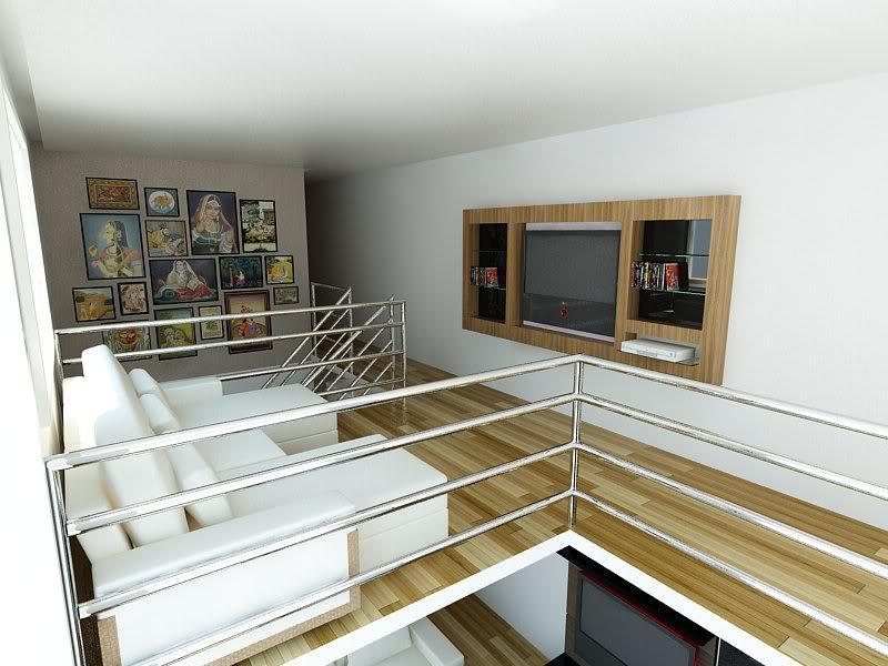 Sala De Tv Mezanino ~  alguns modelos de mezaninos que comportam uma linda sala de estar