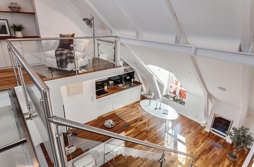Mezaninos podem virar uma sala de estar (Foto: Divulgação)