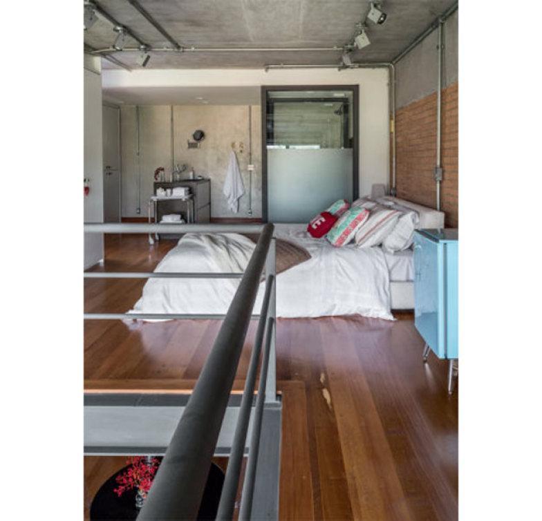 Modelo de mezanino com quarto em cima (Foto: Divulgação)