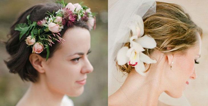 Use flores no seu s]penteado de casamento (Foto: Divulgação)