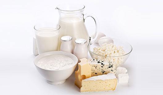 Leite, queijos e iogurtes