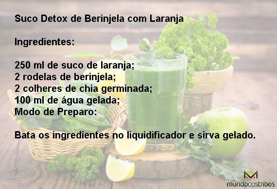 Suco Detox de Berinjela com Laranja