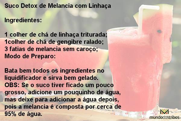 Suco Detox de Melancia com Linhaça