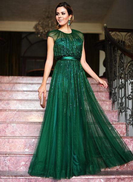 Vestido verde para formatura (Foto: closetdare)