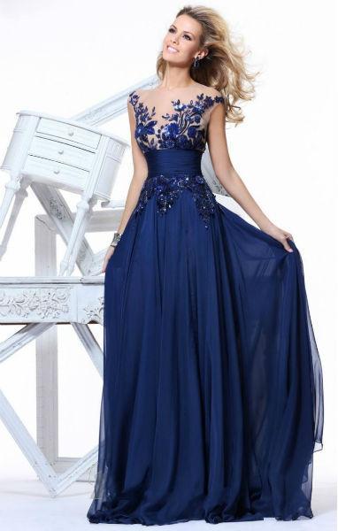 Vestido azul para formatura (Foto: vestidolongo)