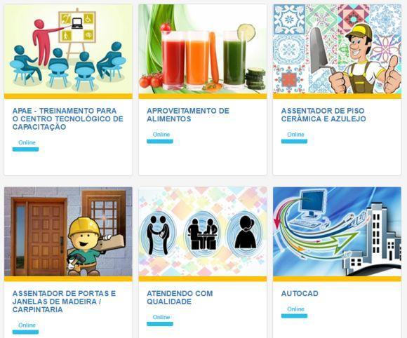 Há dezenas de cursos oferecidos pela instituição (Foto: Reprodução Uaitec)