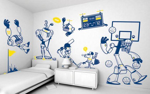 A decoração esportiva é uma ótima ideia (Foto Ilustrativa)