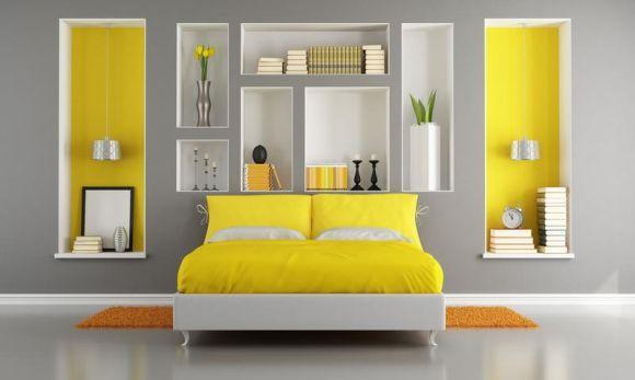 Nichos na decoração do quarto (Foto Ilustrativa)