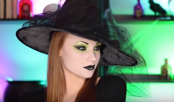 A clássica maquiagem de bruxa (Foto Ilustrativa)