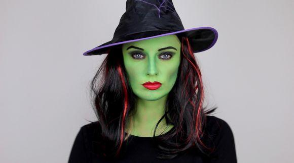 Maquiagem de bruxa tradicional (Foto Ilustrativa)