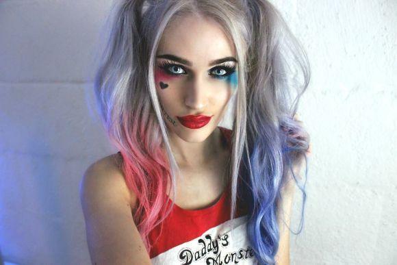 A maquiagem da Arlequina promete ser o hit do Halloween 2016 (Foto Ilustrativa)