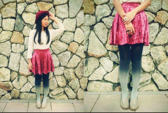Crie looks diferentes, ousados e modernos com as meias ombré (Foto Ilustrativa)
